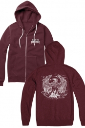 Phoenix Zip Up Hoodie (Currant)
