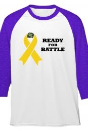 Purple Ribbon Raglan