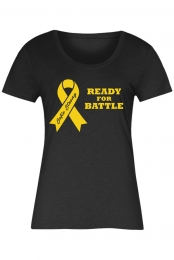 Yellow Ribbon Black T-Shirt (Ladies)