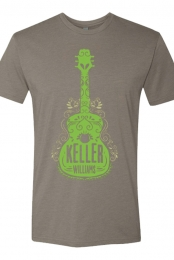 Green Guitar Tee (Grey)