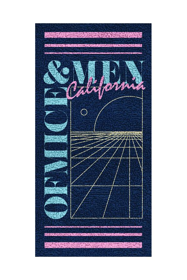Cali Vice Beach Towel