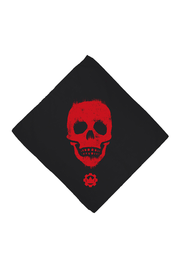 Skull Bandana (Red on Black)
