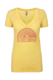 Sun Distressed Women's V-Neck (Yellow)