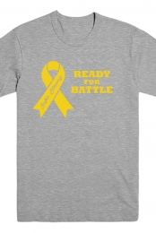 Yellow Ribbon Gray T-shirt (Mens)