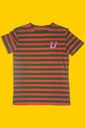 Ultra Tee (Green & Orange Stripes)