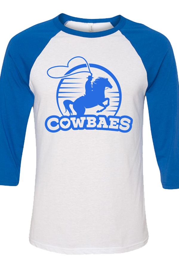 Cowbaes Raglan (White/True Royal)