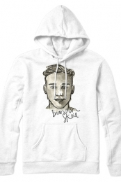 Watercolor Portrait Hoodie (White)