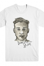 Watercolor Portrait Tee (White)