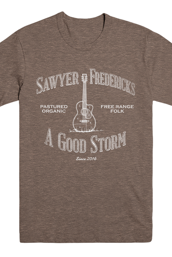 Free Range Folk, A Good Storm Design Tee (Tri-Coffee)