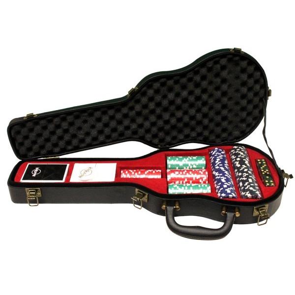 Leather Stud Guitar Case Poker Set 1
