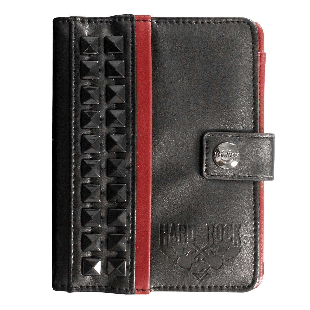 Studded Passport Holder Black 0
