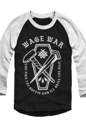 Coffin Raglan (Black/White)
