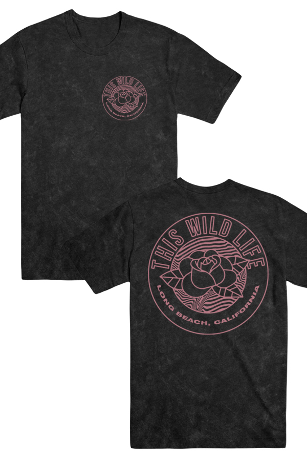 Rose Tee (Black Mineral Wash)