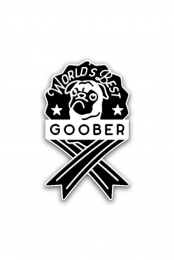 World's Best Goober Pin (Black)