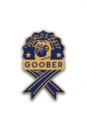 World's Best Goober Pin (Blue)