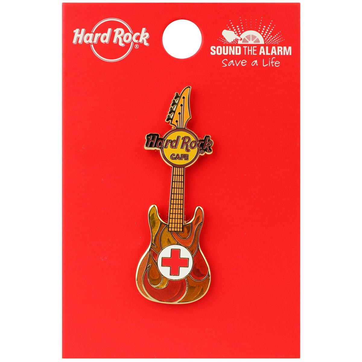 Red Cross Guitar Pin 0