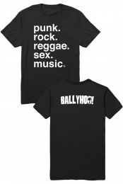 Punk And Rock And Reggae Tee (Black)