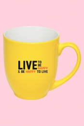 Live To Be Happy Mug