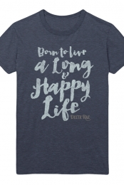 Long Happy Life Tee (Heather Navy)