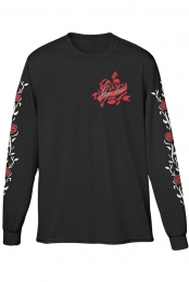 Rose Longsleeve Tee (Black)