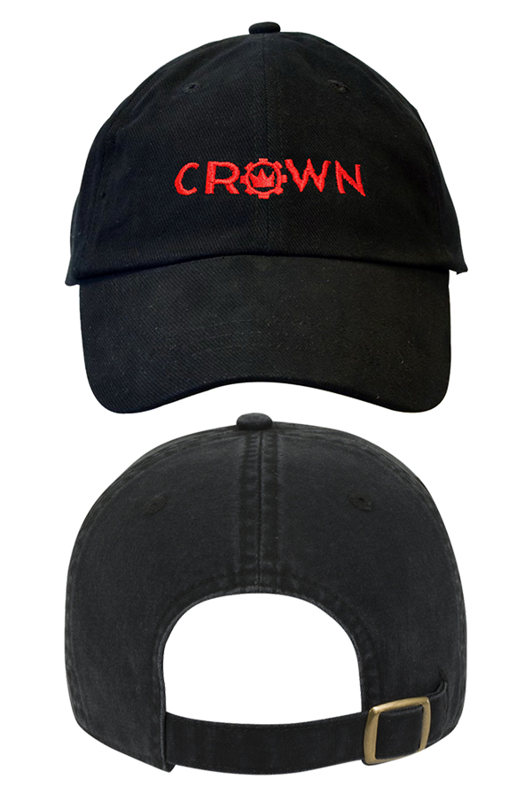 Crown Logo Dad Hat (Black)