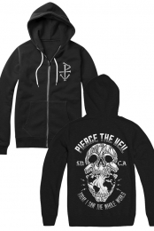 TISTWW Skull Zip-Up Hoodie (Black)