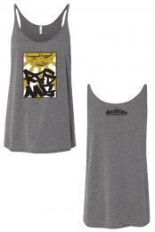 Ladies Sun Mustard Tank (Heather Grey)