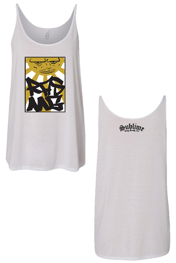 Ladies Sun Mustard Tank (White)