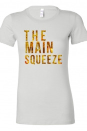 Gold Ladies Tee (White)