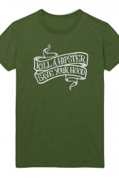 Kill A Hipster Girls Tee (Green)