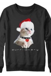 Purr-iphery Holiday Sweatshirt (Black)