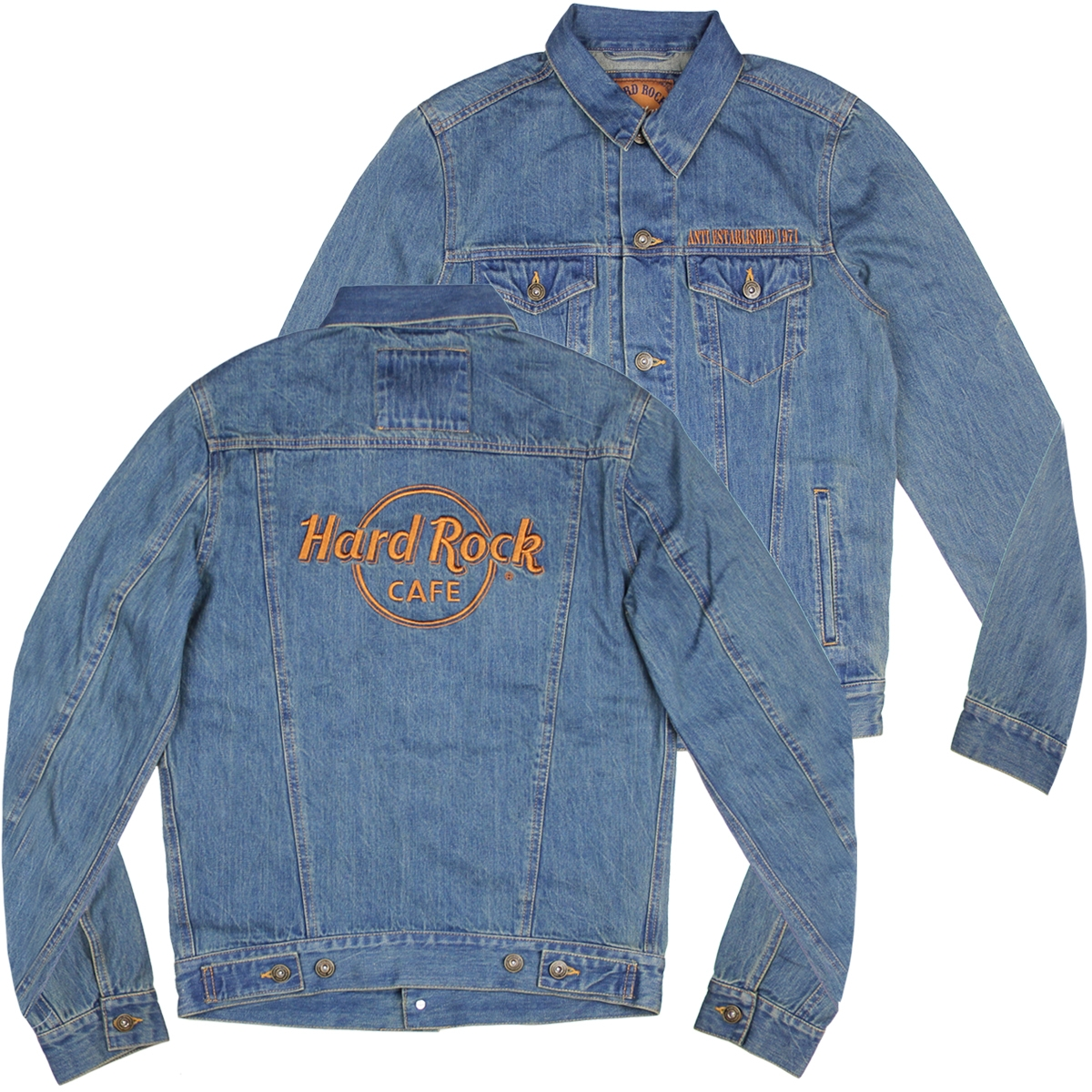 8a2dd0ca8802 Mens Anti Established Denim Jacket