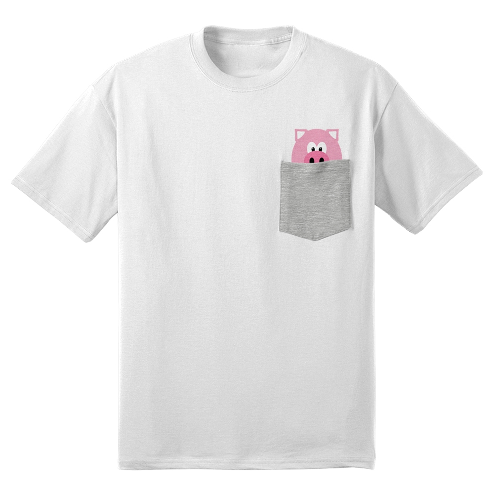 Hellthy Junk Food Official Merchandise Mr Pig Pocket Tee White