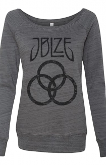 Logo Stack Ladies Sweatshirt (Grey Marble)