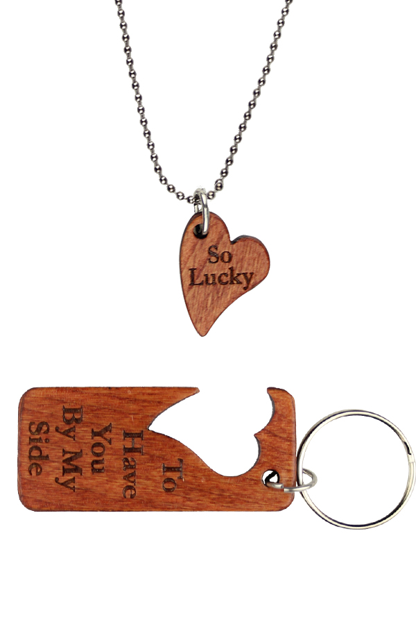 """So Lucky"" Pendant/Key Chain Combo"