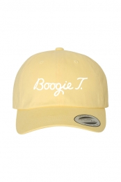 Boogie T Golf Dad Hat (White on Banana)