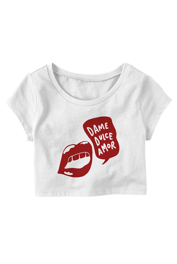 Dame Dulce Amor Crop Top