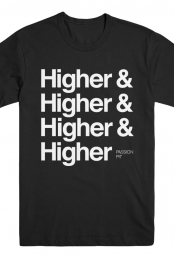 Higher Repeat Tee (Black)