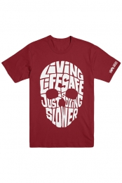 Living Life Safe Tee (Cardinal Red)
