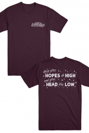 Hopes Up High Tee (Maroon)