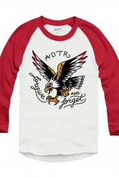 Eagle Raglan (White/Red)
