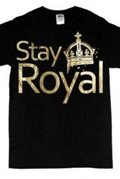 Stay Royal Gold Foil (black)