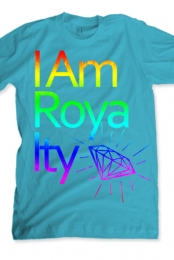 I am Royalty Rainbow Foil (blue)