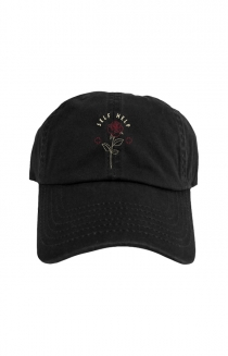Rose Dad Hat (Black)