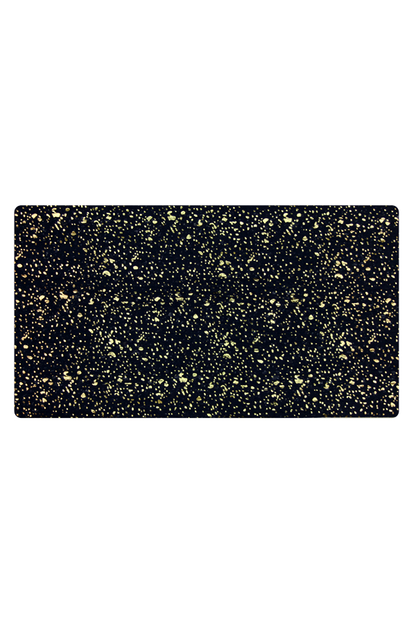 Black Scarf with Gold Dots