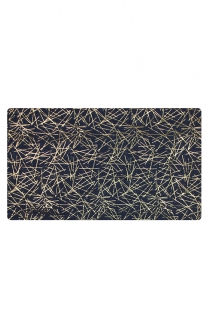 Navy Scarf with Gold Streaks