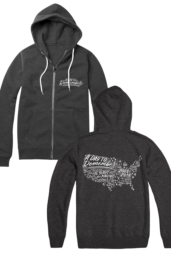 Open Road Zip Up Hoodie (Heather Charcoal)
