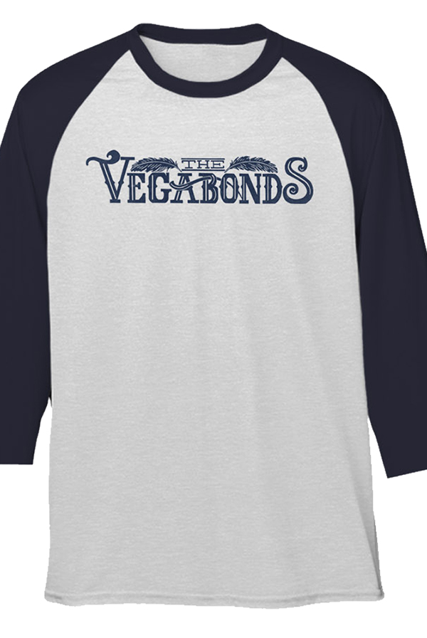 Vegabonds Logo Raglan (Heather White/Indigo)