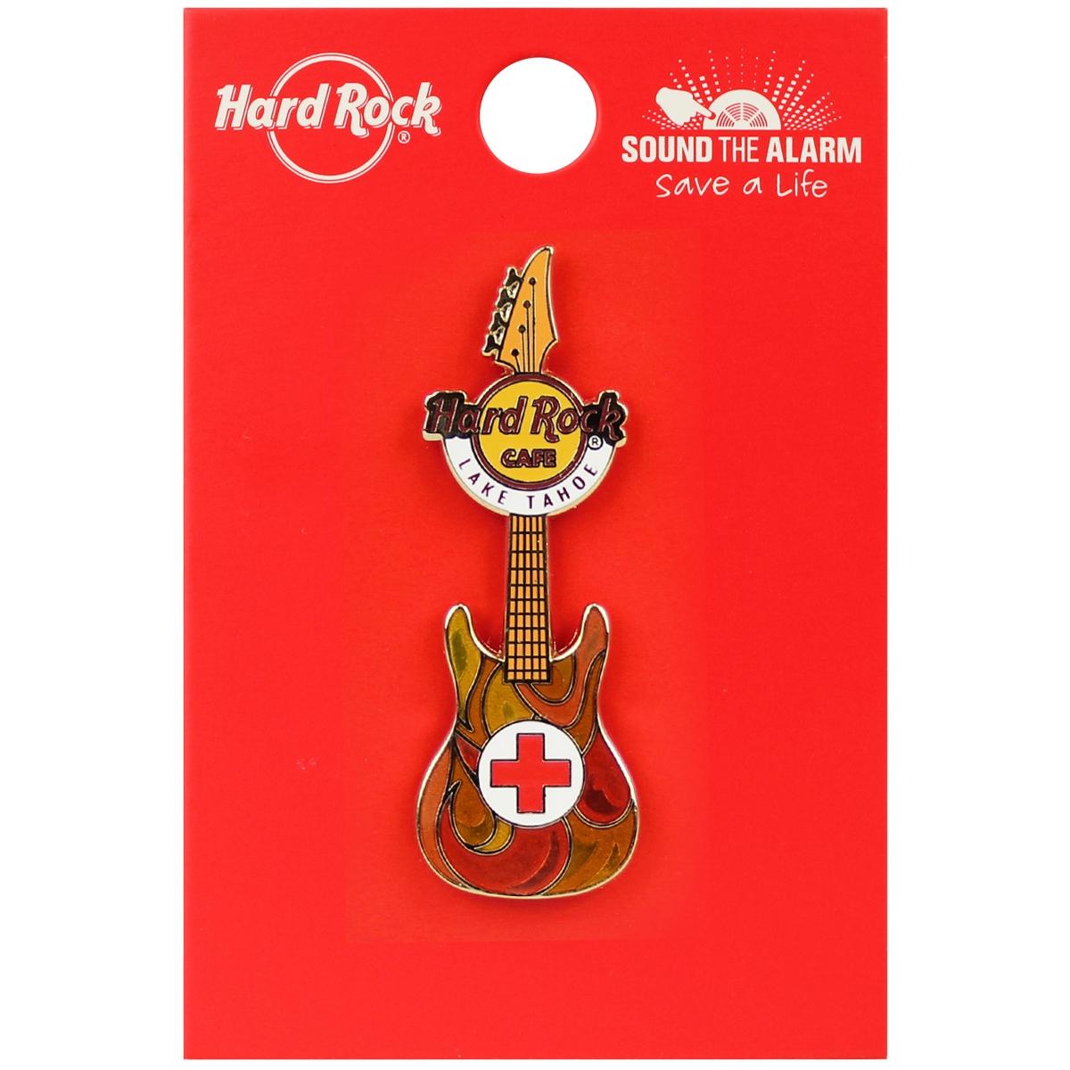 Red Cross Guitar Pin LTO 0