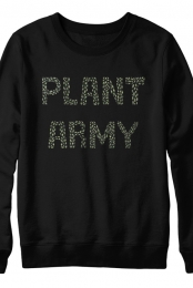 Green Plant Army Sweatshirt (Black)
